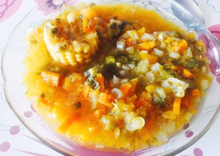 Sopa dieta de verduras