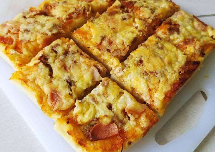 Pizza Ekonomis tanpa Mozarella