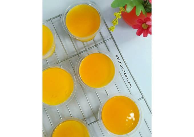 Puding Sutra Toping Sirup Jeruk (5 bahan, 136 kalori percup)