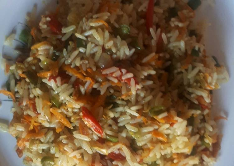 Step-by-Step Guide to Prepare Ultimate Vegetable fried rice