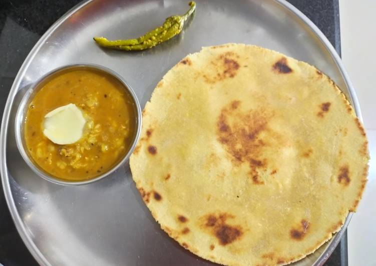 Dal fry and makki roti - Laurie G Edwards