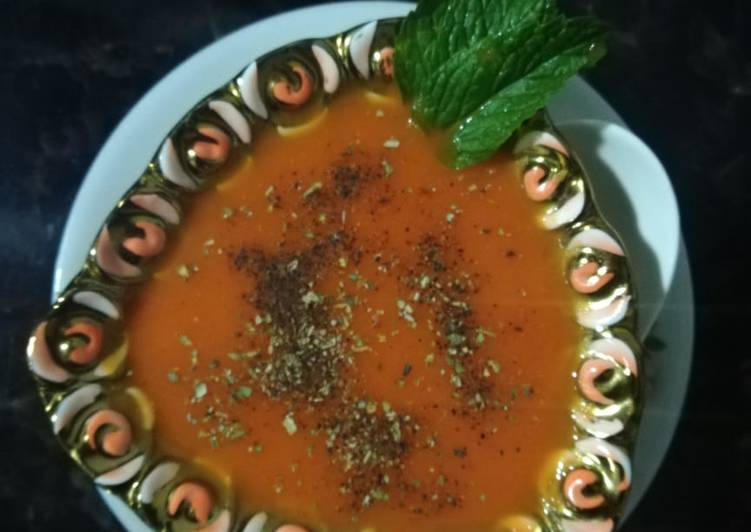 Baked Carrot Ginger soup
