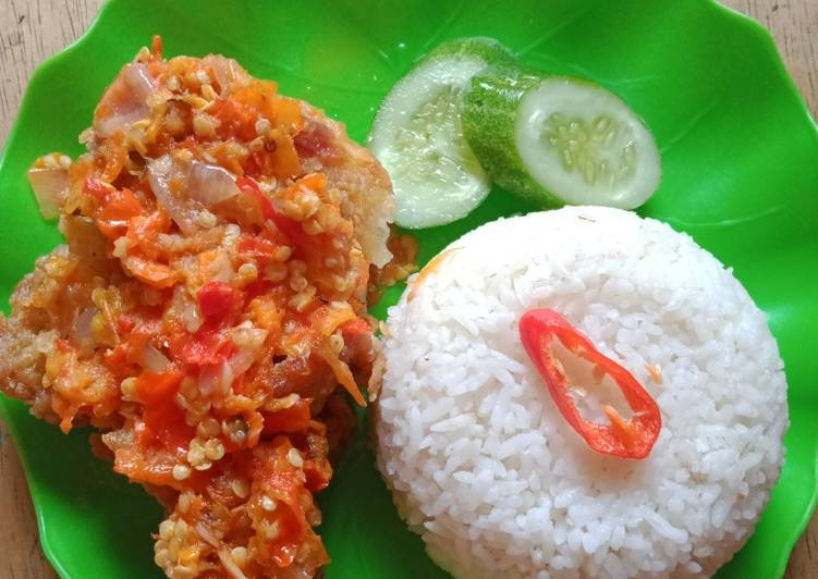 Ayam geprek renyah tidak pake baking soda bisa buat di jual