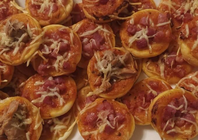Mini pizza feuilletée au lardon et thon(halal)👩🍳