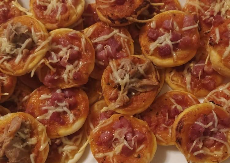 Recette: Mini pizza feuilletée au lardon et thon(halal)👩🍳