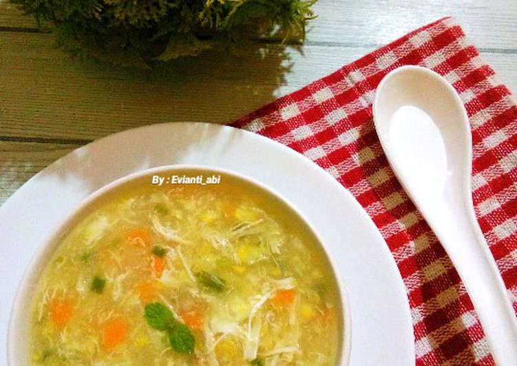Sup jagung ayam wortel