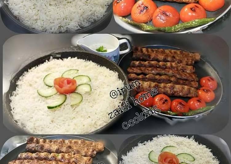 Steps to Prepare Super Quick Homemade 🍲🥘Turkish Food🥘🍲  Adna Kebab   &  Turkish Pilaf