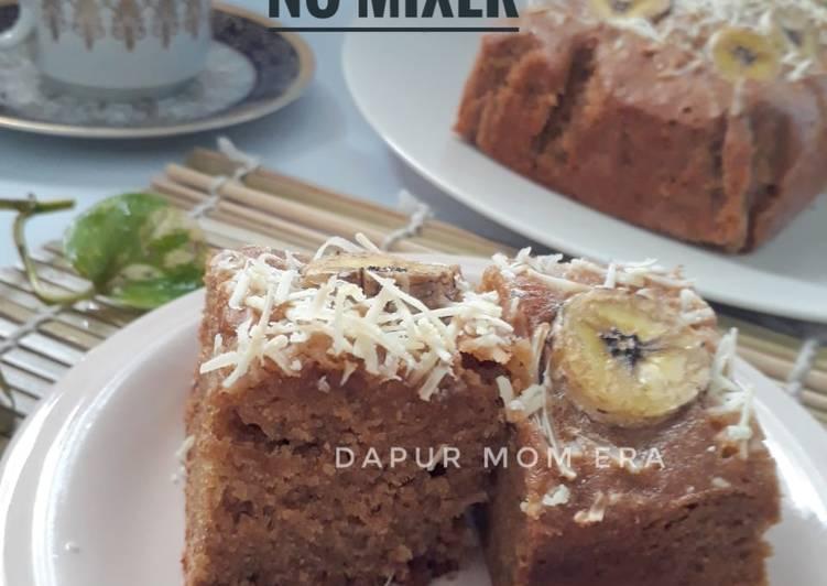 Bagaimana Buat 52) Banana Cake, no mixer yang Menggugah Selera