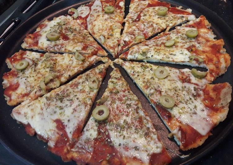 Pizza de pechuga de pollo🍗
