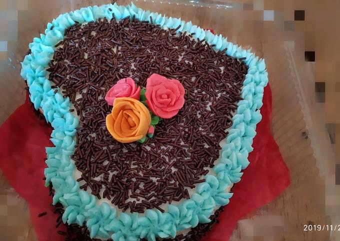 Wedding cake sederhana,dngan takaran sendok