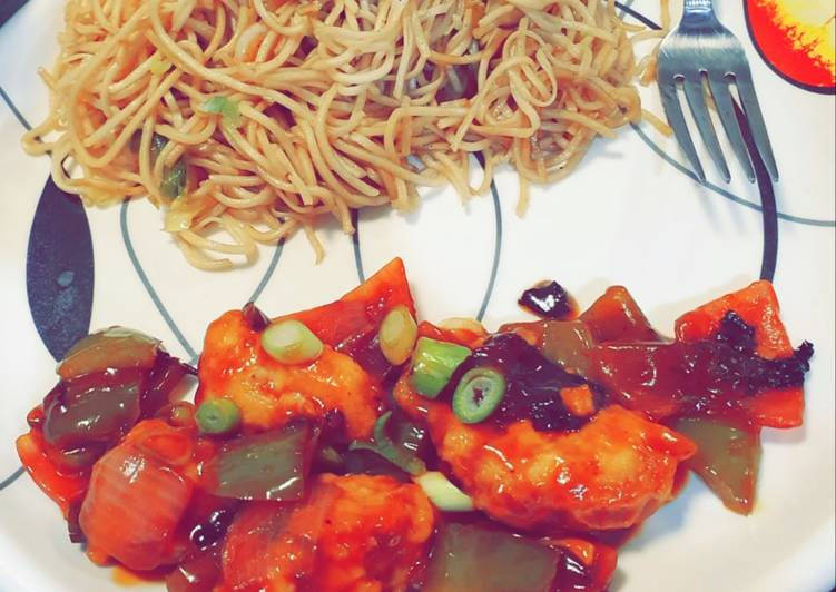 Chilli Chicken and Noodles