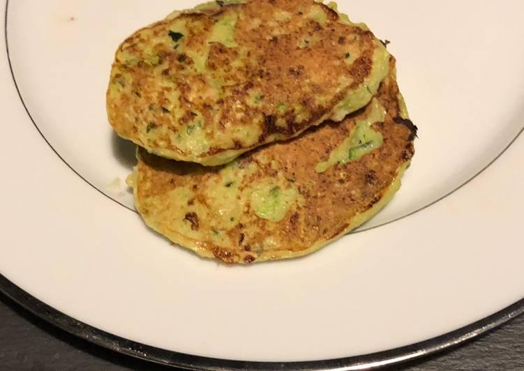 Pancakes courgettes et parmesan