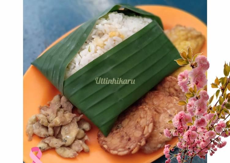 Nasi Liwetan Sunda dengan RiceCooker