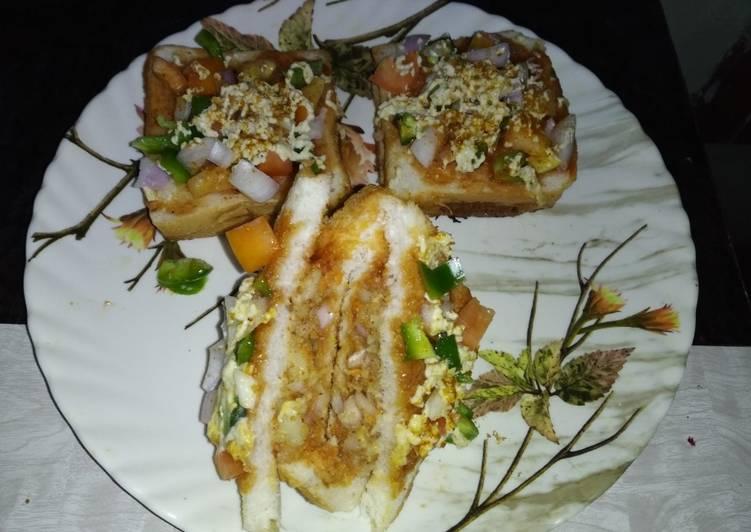 Pavbhaji masala bread sandwich pizza