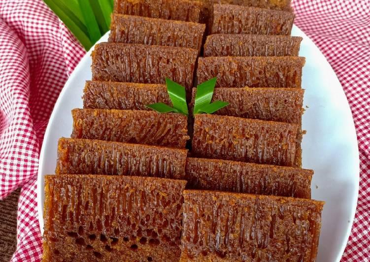 cara bikin Bolu Karamel (Sarang Semut) - Sajian Dapur Bunda