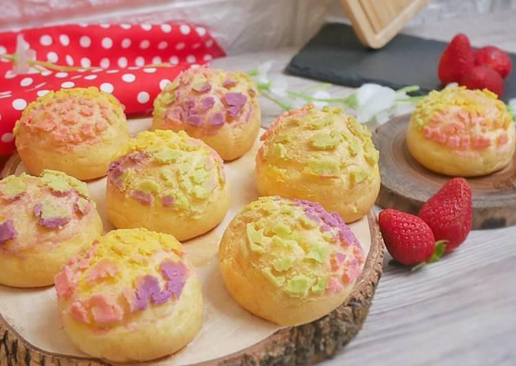 Japanese Rainbow Choux Puff Cream / Kue Sus/ Kue Soes