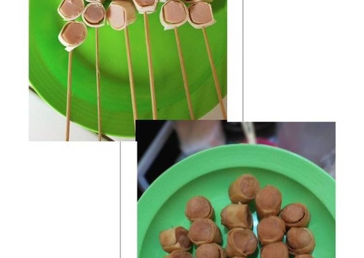 Sosis sate kulit pangsit