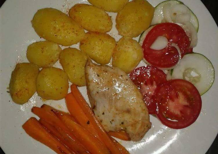 Chicken Breast with Roasted potatoes