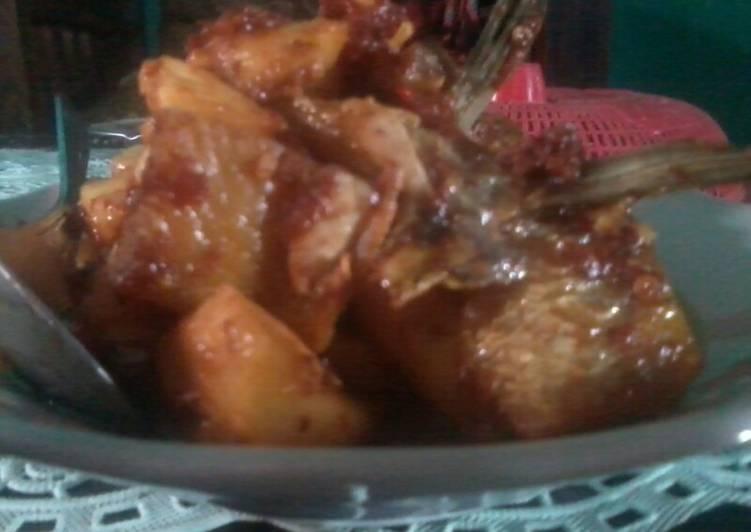 Ikan asin sambal nanas