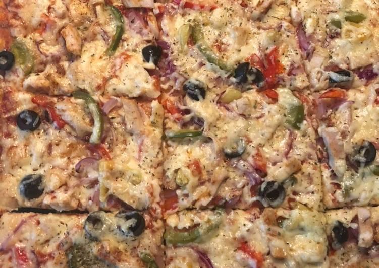 Recipe of Perfect Chicken veggie homemade Pizza