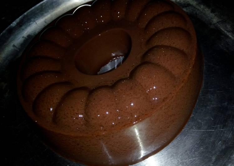resep cara bikin Puding Chocolat Kenyal Lembut