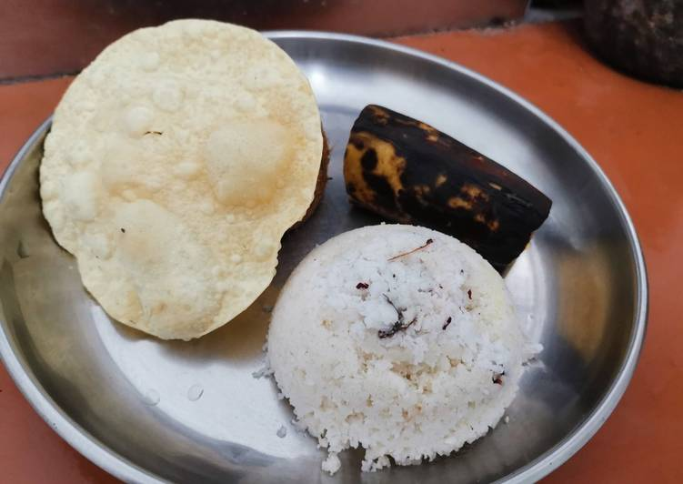 Step-by-Step Guide to Make Any-night-of-the-week Kerala Puttu (Steamed rice cake)