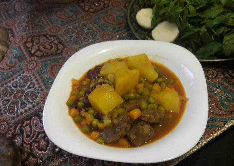 Recipe: Tasty Meat and potato stew