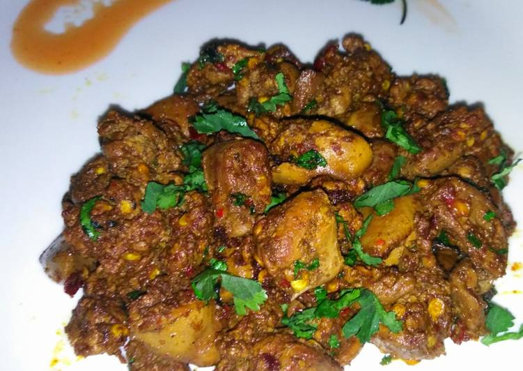 5 minutes spicy chicken liver