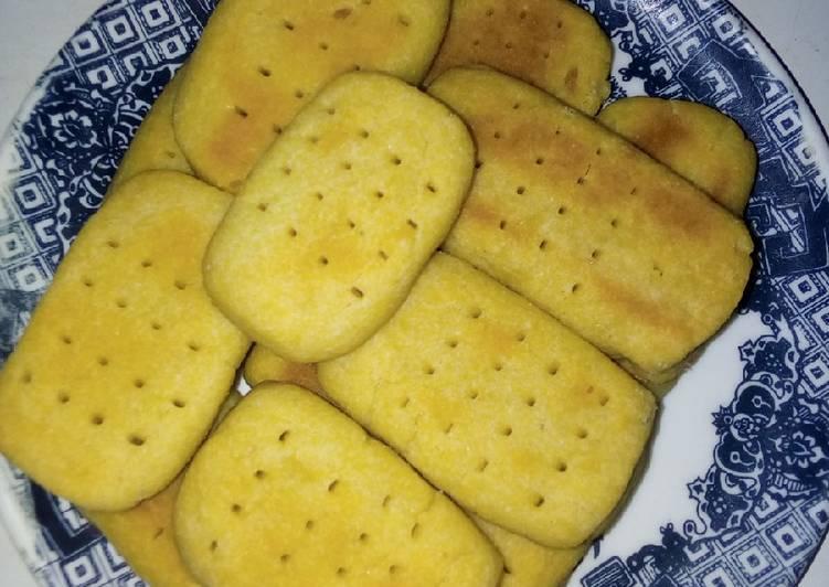Homemade short bread biscuit