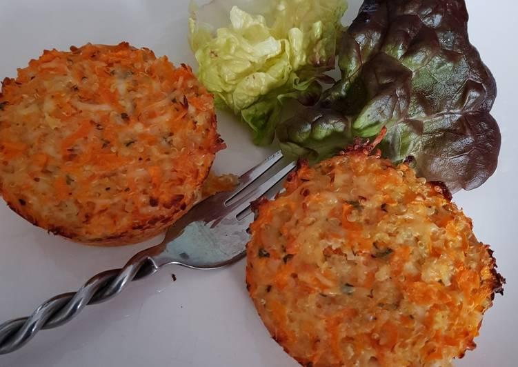 Flans de quinoa à la carotte