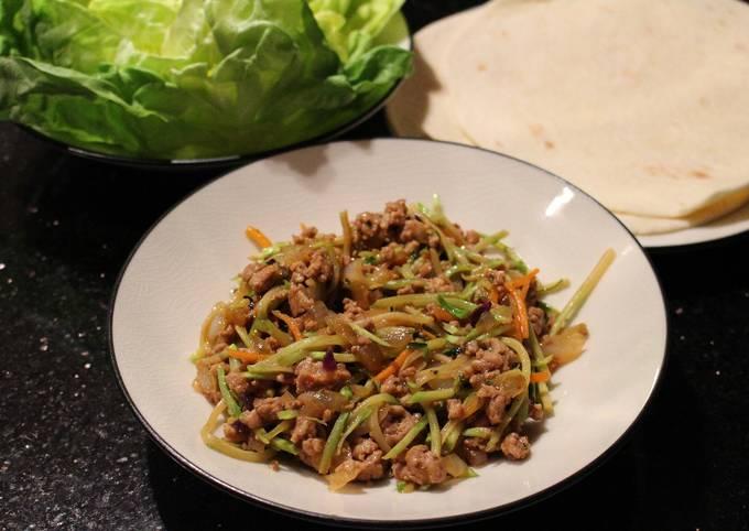 Thai Pork Lettuce Wraps or Burritos