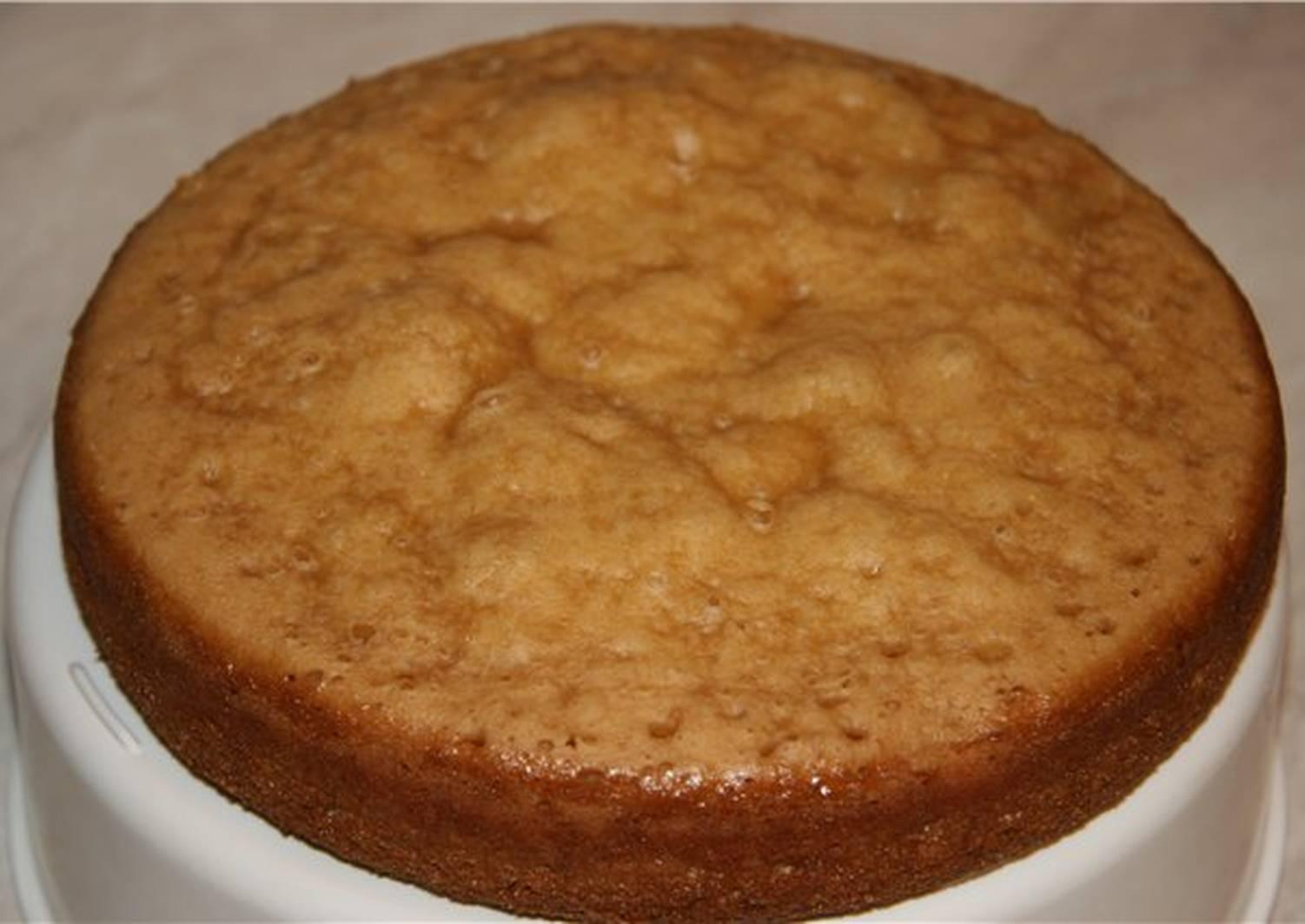 Рецепт бисквита на сметане с фото