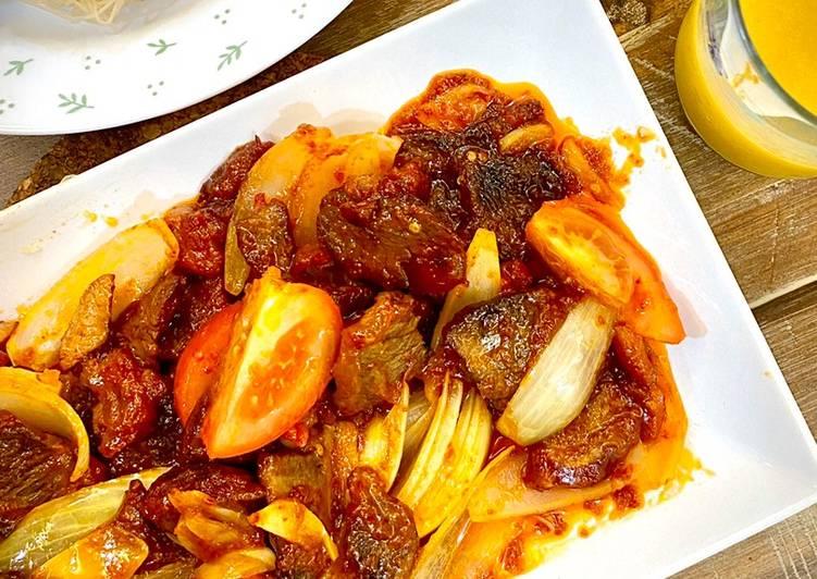Daging Masak Merah - resepipouler.com