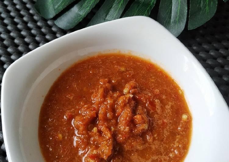 Sambel Tomat Terasi ala Warung Pecel Lele