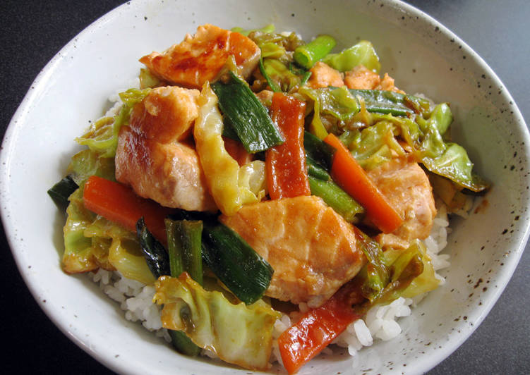 How to Prepare Most Popular Salmon 'Chan-Chan-Yaki' Rice Bowl