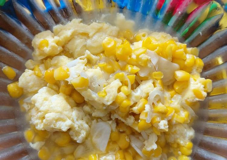 Resep Jagung telur (resep sarapan anak simple) Paling Top
