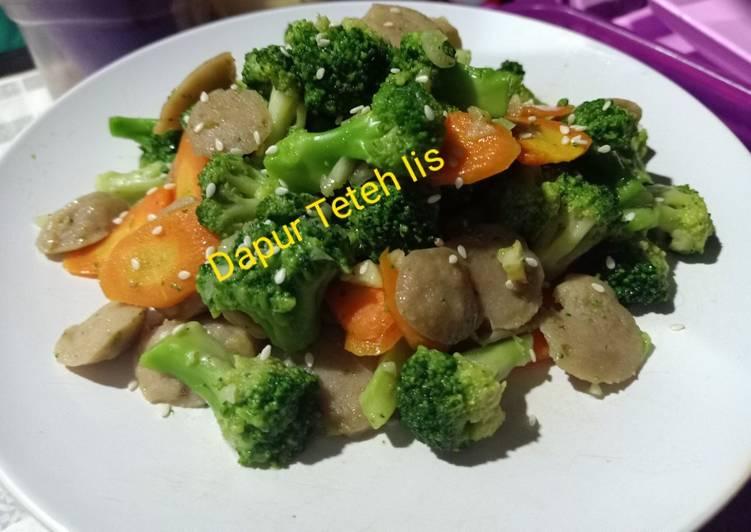 Cah brokoli bakso