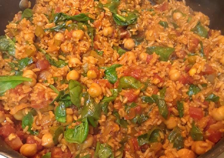 Spanish Style Chickpeas and Rice