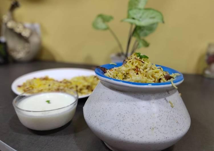Recipe of Super Quick Homemade Veg dum biryani with smoked curd