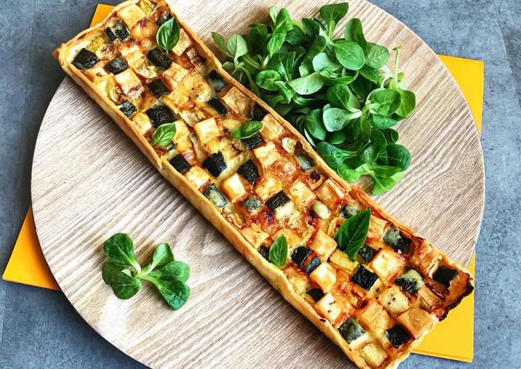 recette Tarte aux courgettes et Pavé Daffinois le délicieux