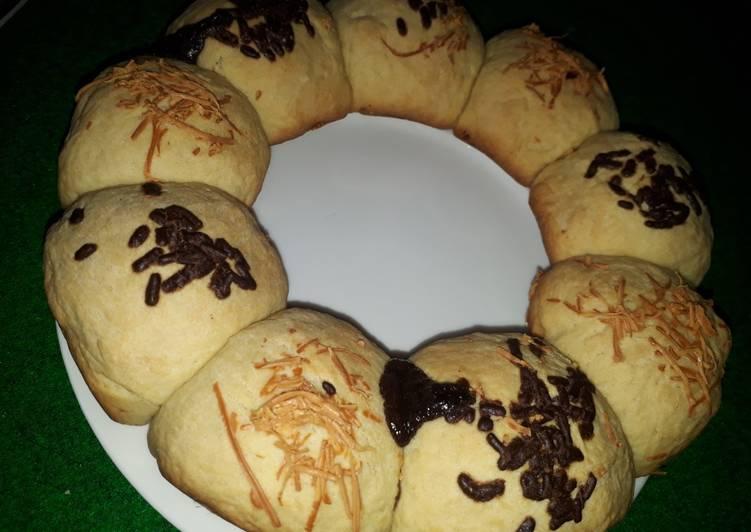 Roti coklat & keju (baking pan)