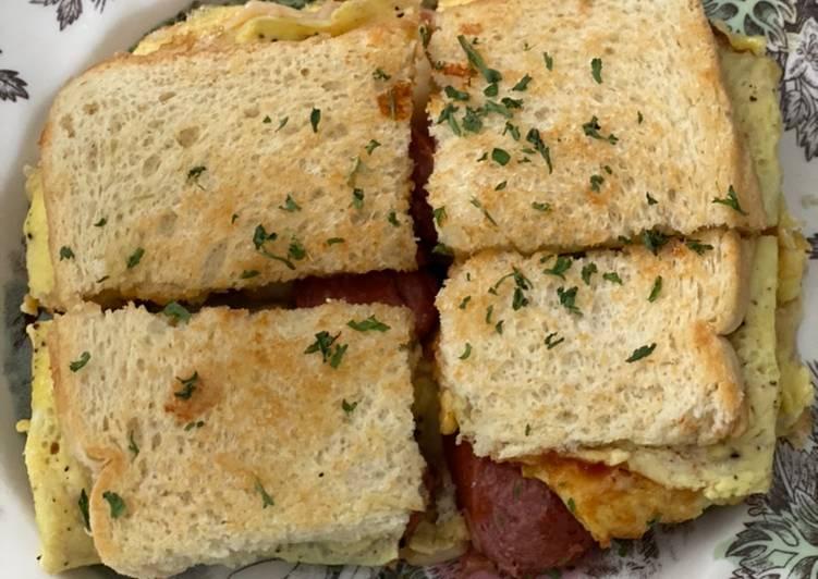 Resep Roti telur Lipat Korea Paling Enak