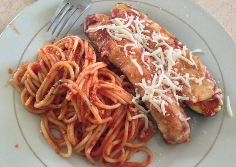 Zucchini Parmesan with Red Sauce