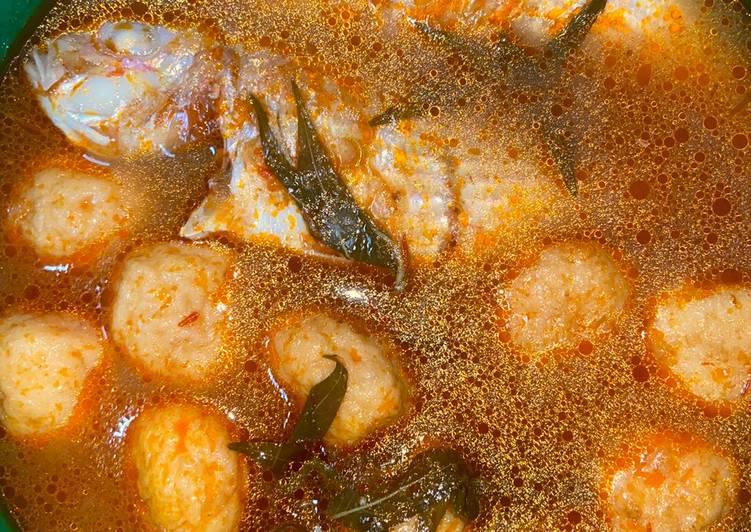 3 Langkah Resepi Asam Pedas Ikan Kerisi Fish Ball Yang Segera