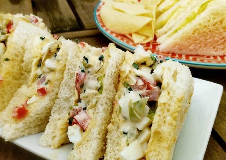 Egg Salad Sandwich o sandwich de ensalada y huevo