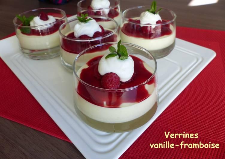 Verrines vanille-framboise