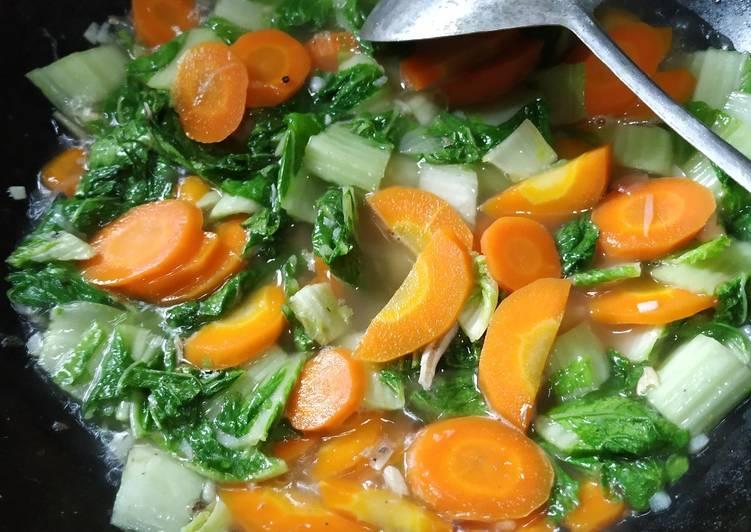 Sayur sawi wortel