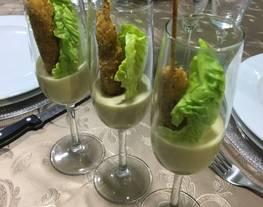 Ensalada César en copas ? para aperitivo de final de año?