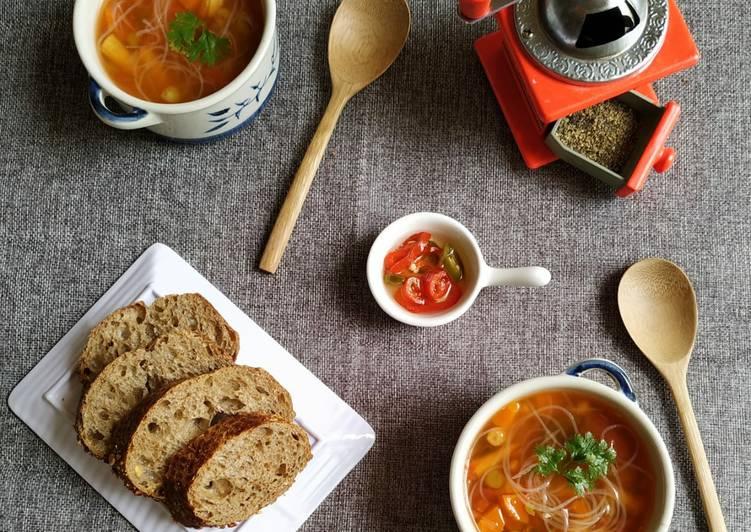 Zero-oil vegetable soup