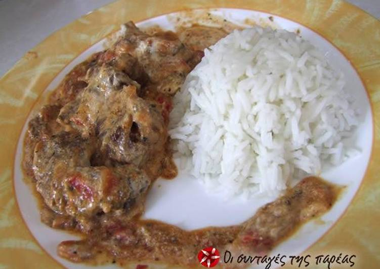Recipe of Most Popular Beef with tomato sauce yiaourtlou